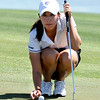 "Jessica Wallace of CU lines up a putt at hole 17 on Thursday.<br /> For more photos of the West Regional, go to  <a href=""http://www.dailycamera.com"">http://www.dailycamera.com</a><br /> Cliff Grassmick / May 10, 2012"