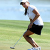 "Jessica Wallace of CU watches a putt miss  at hole 17 on Thursday.<br /> For more photos of the West Regional, go to  <a href=""http://www.dailycamera.com"">http://www.dailycamera.com</a><br /> Cliff Grassmick / May 10, 2012"