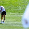 "Kristin Coleman of CU hits her second shot to the flag at hole 17 on Thursday.<br /> For more photos of the West Regional, go to  <a href=""http://www.dailycamera.com"">http://www.dailycamera.com</a><br /> Cliff Grassmick / May 10, 2012"
