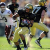 "Rodney Stewart of Colorado had two touchdowns against Texas A & M on Saturday to help the Buffs win 35-34.<br /> <br /> For more photos from the game, go to  <a href=""http://www.dailycamera.com"">http://www.dailycamera.com</a>.<br /> Cliff Grassmick / November 7, 2009"
