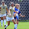 """McKenna Fox, right, of Air Force, kicks the ball away from Darcy Jerman of CU.<br /> For more photos of the game, go to  <a href=""""http://www.dailycamera.com"""">http://www.dailycamera.com</a>.<br /> Cliff Grassmick  / September 16, 2012"""