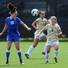 """Stephanie Patterson, left, of Air Force, and Madison Krauser of CU, look to control the ball.<br /> For more photos of the game, go to  <a href=""""http://www.dailycamera.com"""">http://www.dailycamera.com</a>.<br /> Cliff Grassmick  / September 16, 2012"""