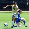 """Bianca Jones of CU gets the ball away from Stephanie Patterson of Air Force.<br /> For more photos of the game, go to  <a href=""""http://www.dailycamera.com"""">http://www.dailycamera.com</a>.<br /> Cliff Grassmick  / September 16, 2012"""