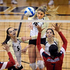 "Nikki Lindow of CU, hits a rocket past Olivia Magill of Arizona.<br /> For more photos of the game, go to  <a href=""http://www.dailycamera.com"">http://www.dailycamera.com</a>.<br /> Cliff Grassmick / October 14, 2012"
