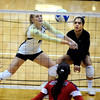 "Michelle Miller of CU digs one out against Arizona.<br /> For more photos of the game, go to  <a href=""http://www.dailycamera.com"">http://www.dailycamera.com</a>.<br /> Cliff Grassmick / October 14, 2012"