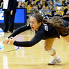 "University of Colorado's Chelsey Keoho dives to save a ball during a volleyball match against Arizona State on Friday, Oct. 12, at the Coors Event Center on the CU campus in Boulder. For more photos of the match go to  <a href=""http://www.dailycamera.com"">http://www.dailycamera.com</a><br /> Jeremy Papasso/ Camera"