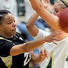 "Chucky Jeffery, left, of CU gets the pass around Kelly Hartig of Colorado State on Sunday.<br /> For more photos of CU and CSU, go to  <a href=""http://www.dailycamera.com"">http://www.dailycamera.com</a>.<br /> November 20, 2011 / Cliff Grassmick"