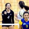 """Elysse Richardson of CU, celebrates a point against CSU-Bakersfield.<br /> For more photos of the game, go to  <a href=""""http://www.dailycamera.com"""">http://www.dailycamera.com</a><br /> Cliff Grassmick / September 15, 2012"""