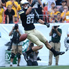 "University of Colorado's Tyler McCulloch drops a pass during the Rocky Mountain Showdown against Colorado State University on Saturday, Sept. 1, at Sports Authority Field at Mile High in Denver. For more photos of the game go to  <a href=""http://www.dailycamera.com"">http://www.dailycamera.com</a><br /> Jeremy Papasso/ Camera"