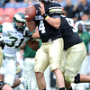 """CU QB, Jordan Webb, during the first half of the Rocky Mountain Showdown at Sports Authority Field in Denver on September 1, 2012.<br /> For more photos of the game, go to  <a href=""""http://www.dailycamera.com"""">http://www.dailycamera.com</a>.<br /> Cliff Grassmick / September 1, 2012"""