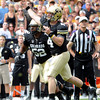 "University of Colorado's Jordan Webb throws a  pass during the Rocky Mountain Showdown against Colorado State University on Saturday, Sept. 1, at Sports Authority Field at Mile High in Denver. For more photos of the game go to  <a href=""http://www.dailycamera.com"">http://www.dailycamera.com</a><br /> Jeremy Papasso/ Camera"