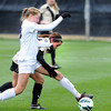 "University of Colorado's Emily Paxton tries to steal the ball from Celeste Boureille during a soccer game against the California Golden Bears on Friday, Oct. 5, at Prentup Field in Boulder. For more photos of the game go to  <a href=""http://www.dailycamera.com"">http://www.dailycamera.com</a><br />  Jeremy Papasso/ Camera"