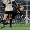 "University of Colorado goalkeeper Annie Brunner allows a goal during a soccer game against the California Golden Bears on Friday, Oct. 5, at Prentup Field in Boulder. For more photos of the game go to  <a href=""http://www.dailycamera.com"">http://www.dailycamera.com</a><br />  Jeremy Papasso/ Camera"