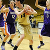 "University of Colorado sophomore Meagan Malcolm-Peck yells for a time-out after rebounding the ball on Friday, Nov. 26, during a basketball game against the University of Evansville at the Coors Events Center on the CU campus. CU defeated Evansville 55-53.<br /> For more photos go to  <a href=""http://www.dailycamera.com"">http://www.dailycamera.com</a><br /> Photo by Jeremy Papasso"
