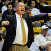 "University of Colorado Head Coach Tad Boyle argues a call with the referee during a game against Fort Lewis College on Friday, Nov. 11, at the Coors Event Center on the CU campus in Boulder. CU won the game 85-57. For more photos of the game go to  <a href=""http://www.dailycamera.com"">http://www.dailycamera.com</a><br /> Jeremy Papasso/ Camera"
