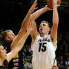"University of Colorado's Shane Harris-Tunks takes a jump shot during a game against Fort Lewis College on Friday, Nov. 11, at the Coors Event Center on the CU campus in Boulder. CU won the game 85-57. For more photos of the game go to  <a href=""http://www.dailycamera.com"">http://www.dailycamera.com</a><br /> Jeremy Papasso/ Camera"