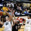 "University of Colorado's Rachel Hargis takes a shot over Idaho's Ashley Walters on Sunday, Dec. 4, during a game against the University of Idaho at the Coors Event Center on the CU campus in Boulder. CU won the game 68-59. For more photos of the game go to  <a href=""http://www.dailycamera.com"">http://www.dailycamera.com</a><br /> Jeremy Papasso/ Camera"