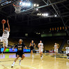 """University of Colorado's Chucky Jeffery goes for a layup over Idaho's Ganeaya Rogers on Sunday, Dec. 4, during a game against the University of Idaho at the Coors Event Center on the CU campus in Boulder. CU won the game 68-59. For more photos of the game go to  <a href=""""http://www.dailycamera.com"""">http://www.dailycamera.com</a><br /> Jeremy Papasso/ Camera"""
