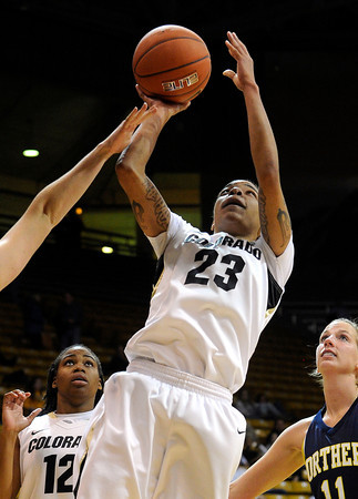 "University of Colorado's Chucky Jeffery takes a shot during a game against Northern Arizona on Friday, Nov. 11, at the Coors Event Center on the CU campus in Boulder. CU won the game 84-60. For more photos of the game go to  <a href=""http://www.dailycamera.com"">http://www.dailycamera.com</a><br /> Jeremy Papasso/ Camera"