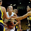 "University of Colorado's Julie Seabrook, middle, fights for the rebound during a game against Northern Arizona on Friday, Nov. 11, at the Coors Event Center on the CU campus in Boulder. CU won the game 84-60. For more photos of the game go to  <a href=""http://www.dailycamera.com"">http://www.dailycamera.com</a><br /> Jeremy Papasso/ Camera"