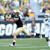 "University of Colorado's Logan Gray misses a pass on Saturday, Oct. 22, during a football game against the University of Oregon at Folsom Field in Boulder. CU lost the game 45-2. For more photos go to  <a href=""http://www.dailycamera.com"">http://www.dailycamera.com</a><br /> Jeremy Papasso/ Camera"