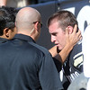 """The CU medical staff checks in with CU QB Tyler Hansen after his injury, a possible concussion.<br /> For more photos of the game, go to  <a href=""""http://www.dailycamera.com"""">http://www.dailycamera.com</a>.<br /> October 22, 2011 / Cliff Grassmick"""
