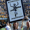 "There was a special presentation for former CU runner, Jenny Barringer Simpson, for her great running achievements.<br /> For more photos of the game, go to  <a href=""http://www.dailycamera.com"">http://www.dailycamera.com</a>.<br /> October 22, 2011 / Cliff Grassmick"