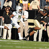 "University of Colorado's Toney Clemons misses a pass on Saturday, Oct. 22, during a football game against the University of Oregon at Folsom Field in Boulder. CU lost the game 45-2. For more photos go to  <a href=""http://www.dailycamera.com"">http://www.dailycamera.com</a><br /> Jeremy Papasso/ Camera"