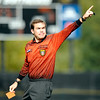 """A referee pulls a red card and points Colorado Head Coach Bill Hempen off the field as he got ejected from the game on Sunday, Oct. 16, during a soccer game against Oregon State at Prentup Field on the CU campus in Boulder. For more photos of the game go to  <a href=""""http://www.dailycamera.com"""">http://www.dailycamera.com</a><br /> Jeremy Papasso/ Camera"""