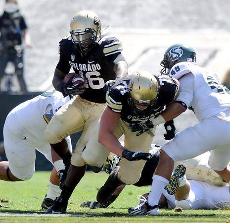 """The running of Christian Powell was one bright spot for CU in the game against Sacramento State.<br /> For more photos of the game, got o  <a href=""""http://www.dailycamera.com"""">http://www.dailycamera.com</a>.<br /> Cliff Grassmick  / September 8, 2012"""