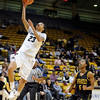 "University of Colorado's Chucky Jeffery goes for a layup on Wednesday, Nov. 30, during a game against the University of San Francisco at the Coors Event Center on the CU campus in Boulder. CU won the game 84-66. For more photos of the game go to  <a href=""http://www.dailycamera.com"">http://www.dailycamera.com</a><br /> Photo by Jeremy Papasso"