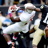 "Jamal-Rashad Patterson of Stanford makes a catch in front of Jeffery Hall of CU.<br /> For more photos of the game, go to  <a href=""http://www.dailycamera.com"">http://www.dailycamera.com</a>.<br /> Cliff Grassmick / November3, 2012"