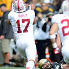 "A.J. Tarpley of Stanford grabs an interception after a ball was knocked out of the hands of Nick Kasa, bottom.<br /> For more photos of the game, go to  <a href=""http://www.dailycamera.com"">http://www.dailycamera.com</a>.<br /> Cliff Grassmick / November3, 2012"