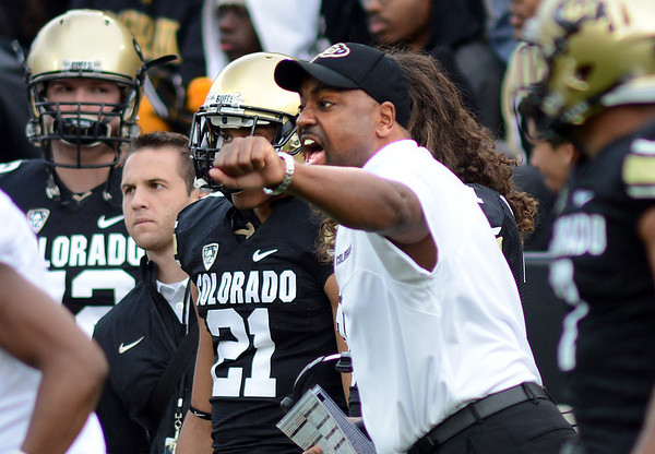 "Coach Jon Embree coaches his team in the Stanford game.<br /> For more photos of the game, go to  <a href=""http://www.dailycamera.com"">http://www.dailycamera.com</a>.<br /> Cliff Grassmick / November3, 2012"