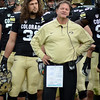 "CU Defensive Coordinator, Greg Brown, watches the action in the Stanford game.<br /> For more photos of the game, go to  <a href=""http://www.dailycamera.com"">http://www.dailycamera.com</a>.<br /> Cliff Grassmick / November3, 2012"