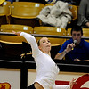 "University of Colorado's Emily Alexis goes for a kill on Thursday, Nov. 3, during  a volleyball game against Stanford University at the Coors Event Center on the CU campus in Boulder. For more photos of the game go to  <a href=""http://www.dailycamera.com"">http://www.dailycamera.com</a><br /> Jeremy Papasso/ Camera"