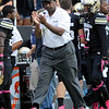 "University of Colorado head coach Jon Embree claps after forcing a punt during a game against UCLA on Saturday, Sept. 29, at Folsom Field in Boulder. For more photos of the game go to  <a href=""http://www.dailycamera.com"">http://www.dailycamera.com</a><br /> Jeremy Papasso/ Camera"