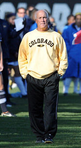 CU head soccer coach, Bill Hempen, looks over the game against UCLA. For more photos of the game, go to www.dailycamera.com. Cliff Grassmick / October 28, 2011