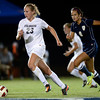 University of Colorado's Anne Stuller moves the ball up the field during a game against the University of Northern Colorado on Friday, Aug. 17, at Jackson Stadium in Greeley. CU won 3-0.<br /> Jeremy Papasso/ Camera