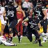 "Rodney Stewart takes off against USC.<br /> For more photos of CU and USC, go to  <a href=""http://www.dailycamera.com"">http://www.dailycamera.com</a>.<br /> November 4, 2011 / Cliff Grassmick"