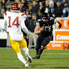 "University of Colorado's Ryan Deehan rushes the ball on Friday, Nov. 4, during a football game against the University of Southern California at Folsom Field on the CU campus in Boulder. CU lost the game 42-17. For more photos of the game go to  <a href=""http://www.dailycamera.com"">http://www.dailycamera.com</a><br /> Jeremy Papasso/ Camera"