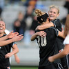 "Shaye  Marshall, right, of CU, celebrates her goal with Amy Barczuk (10), against Utah.<br /> For more photos from the game, go to  <a href=""http://www.dailycamera.com"">http://www.dailycamera.com</a>..<br />  Cliff Grassmick / November 2, 2012"