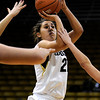 "University of Colorado's Jasmine Sborov takes a shot on Friday, Nov. 25, during a basketball game against Valparaiso University at the Coors Event Center on the CU campus in Boulder. For more photos of the game go to  <a href=""http://www.dailycamera.com"">http://www.dailycamera.com</a><br /> Photo by Jeremy Papasso"