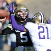 """Connor Wood of CU throws an interception on this play after being pressured by Marcus Peters of Washington.<br /> For more photos of the CU game, go to  <a href=""""http://www.dailycamera.com"""">http://www.dailycamera.com</a><br /> Cliff Grassmick / November 17, 2012"""