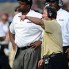 "Head CU coach, Jon Embree, left, and Defensive Coordinator, Greg Brown, watch the defense in the second half of the Washington game.<br /> For more photos of the CU game, go to  <a href=""http://www.dailycamera.com"">http://www.dailycamera.com</a><br /> Cliff Grassmick / November 17, 2012"