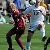 Kelly Butler, (12) of CU gets position on the ISU defender.<br /> Cliff Grassmick / September 27, 2009