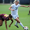 "Anne Suller (23) of CU, gets around Sierra Joseph of ASU.<br /> For more photos of the game, go to  <a href=""http://www.dailycamera.com"">http://www.dailycamera.com</a><br /> Cliff Grassmick / October 2, 2011"