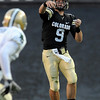 Tyler Hansen of CU, passes against Baylor.<br /> Cliff Grassmick / October 16, 2010