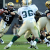 "University of Colorado quarterback Tyler Hanses rushes the ball in the first quarter of the football game against Baylor on Saturday, Oct. 16, at Folsom Field in Boulder.<br /> For more photos go to  <a href=""http://www.dailycamera.com"">http://www.dailycamera.com</a><br /> Photo by Jeremy Papasso/ Camera"