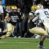 Arthurs Jaffee of CU  runs back a kick against Baylor.<br /> Cliff Grassmick / October 16, 2010